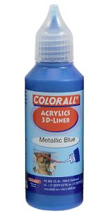 3-D liner 50 ml metallic blå