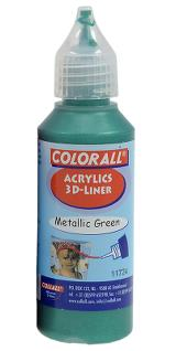 3-D liner 50 ml metallic grön