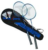 Badmintonset 2 racket + 2 bollar